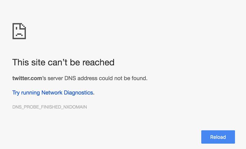 آموزش رفع خطای This site can't be reached در هنگام استفاده از مرورگر گوگل کروم