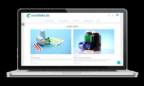 طراحی فروشگاه اینترنتی eurotheke