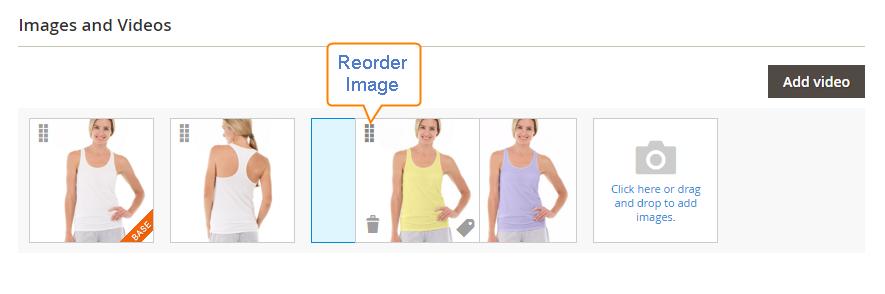 ترتیب نمایش تصاویر محصول