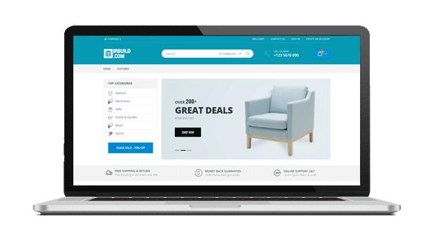 طراحی فروشگاه اینترنتی IrBuild