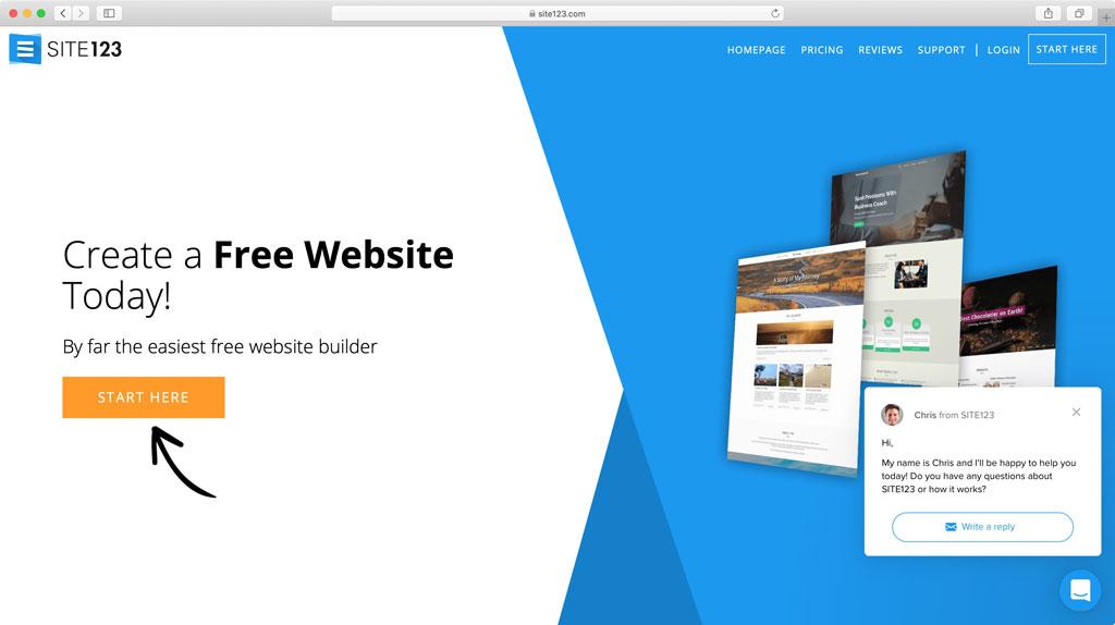 سایت ساز Site123